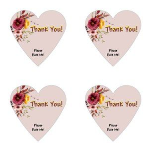 Other - Thank You Stickers 60 Heart Labels 1 1/2